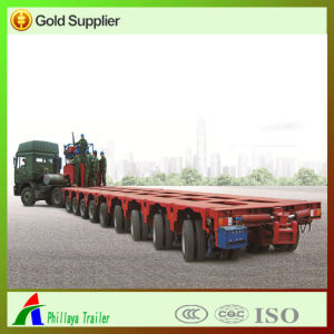200 Tons Multi Axle Low Bed Hydraulic Steering Tires Modular Semi Trailer pictures & photos