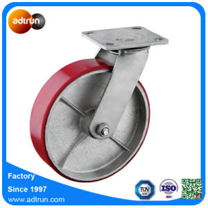 Heavy Duty 8 Inch PU Steel Needle Bearing Wheels 500 Kg Capacity pictures & photos