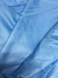 Clean Room Antistatic Stripe or Grid Polyester Antistatic Jacket pictures & photos