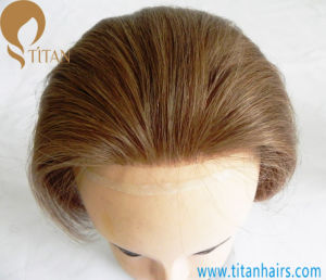 Thin Skin Base Remy Human Hair Men′s Toupee