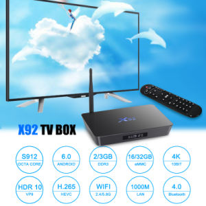 Popular Android TV Box X92 Amlogic S912 Qcta-Core Dual WiFi Optional IPTV a Group of IPTV pictures & photos