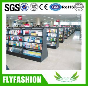 Metal Frame Library Double Face Bookshelf for Putting Book pictures & photos
