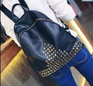 Fashion and Casual PU School Student Backpack pictures & photos