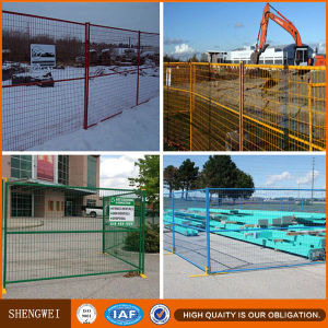 Yellow Temporary Fence Panels for Canada Market pictures & photos