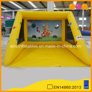 Yellow Inflatable Soccer Kick Games Inflatables Football Games for Kid (AQ1828-1) pictures & photos