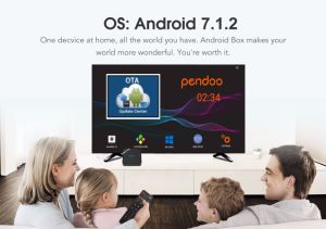 Newest Pendoo X8 Mini Amlogic S905W 1g RAM 8g ROM Android7.1 TV Box pictures & photos
