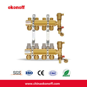 8 Way HVAC Brass Water Heating Integrated Manifold (HF216P-8) pictures & photos