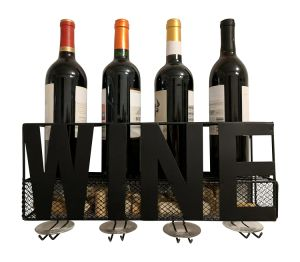 Metal Wall Mounted Wine Bottle Holder Home Deco Wine Holders Decorative Wine Rack pictures & photos