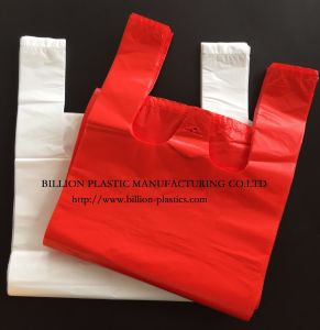 HDPE Plastic Plain Shopping Bag with or Without Printing pictures & photos