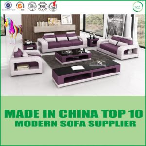 Modern Living Room Set Leather Sectional Sofa pictures & photos