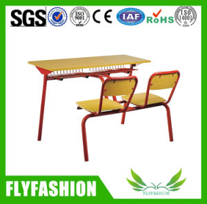 Fashion Combo Double Student Desk and Chair Classroom Furniture (SF-09D) pictures & photos