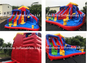 Inflatable Funcity / Happy Hop Inflatable Water Slide for Sale pictures & photos