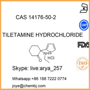 Factory Supply 99% Pharmaceutical Material Tiletamine Hydrochloride CAS14176-50-2 pictures & photos