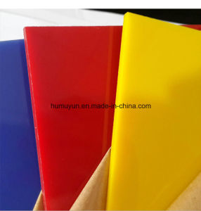 Yellow Red Transparent Clear 1220X2440mm 4X8FT Acrylic Sheet for Display Board