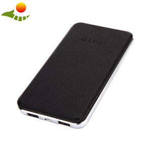 Portable Solar Power Bank 10000mAh Dual USB Port 5V Input pictures & photos