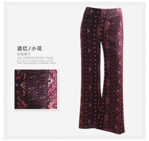 OEM Women Casual Trousers Sexy Flower Print Rayon Ladies Pants pictures & photos