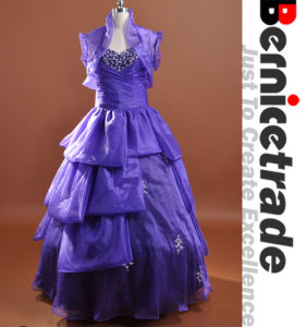 New Purple Long Prom Dress Evening Party Ball Gown