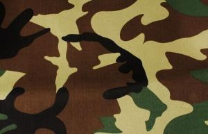 Camouflage Fabric of 100% Polyester Oxford with White Coated pictures & photos