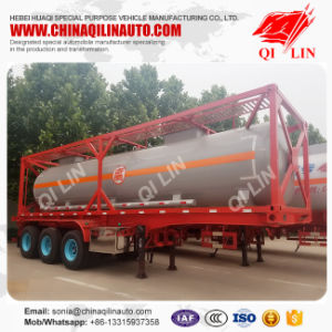 30FT Container Sulfuric Acid Tank Semi Trailer with 3 Axles pictures & photos