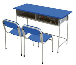 Double Desk & Chair Classroom Furniture pictures & photos