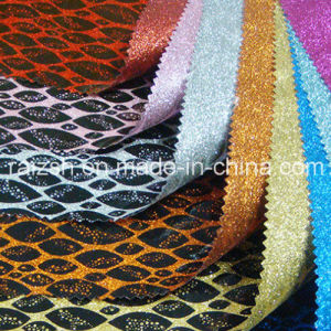 Flashing Jewelry Packaging Printing PVC Fabric Glitter Special Leather pictures & photos