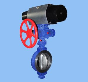 Worm Gear and Pneumatic Operating Wafer Type Butterfly Valve
