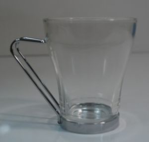 8oz Glass Coffee Cup with Chroming Handle (AYA4050)