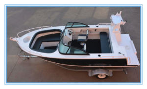 17FT Bowrider Aluminum Hull Yacht with Outboard Motor
