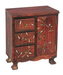 Chinese Style Solid Wood 3drw 2 Dr Cabinet (RL01347-0852)
