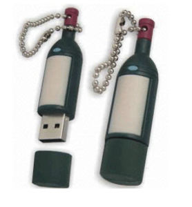 Hot Sell Wine Bottle Shaped Gift USB Flash Drive pictures & photos