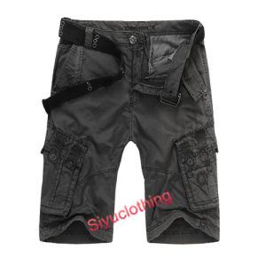 Men Fashion Comfortable Loose Cargo Pockets Cotton Shorts (S-1515) pictures & photos