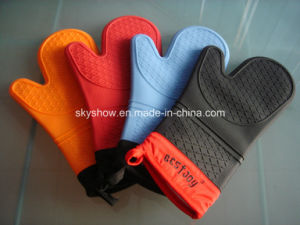 Heat Retardant Oven Mitts (SSG0402) pictures & photos