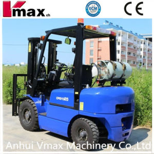 Blue Paint 2.5 Ton LPG/Gas Forklift with CE Standard pictures & photos