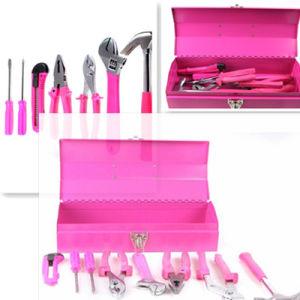 7PCS Metal Case Pink Ladies Tool Kit pictures & photos