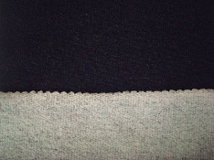Cotton Terry Fleece Jersey Denim Fabric pictures & photos