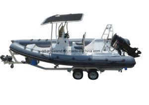 Aqualand 21feet 6.5m Rigid Inflatable Fishing Boat/Rib Motor Boat (RIB650B) pictures & photos