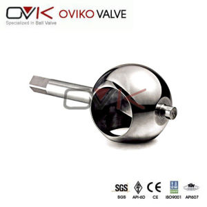 API Forged Stainless Steel Trunnion Stem Three-Way Valve Ball