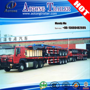 60 Tons Container Flatbed Trailer, High Bed Semi Trailer pictures & photos