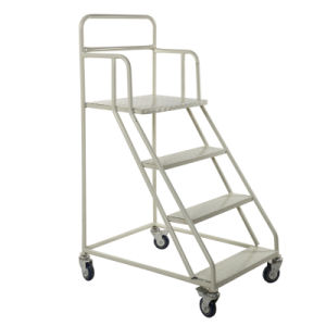 Metallic Warehouse Platform Ladder Trolley with Large Capacity pictures & photos