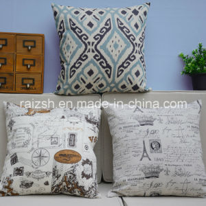 England Printing Cotton and Linen Pillow Cover Household Automobile Cushion pictures & photos