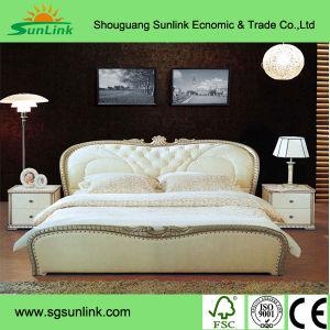 Natural Walnut Solid Wood Bedroom Furniture Sets (SET002) pictures & photos