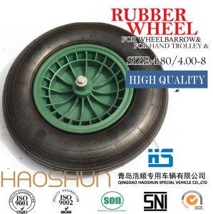 Pneumatic Wheelbarrow Barrow Rubber Wheel Tire 4.80/4.00-8 pictures & photos