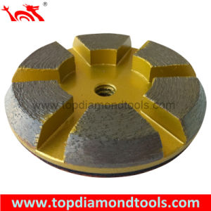 6 Segment Grinding Pucks for Concrete Grinding with Rubber Layer and Vecro pictures & photos