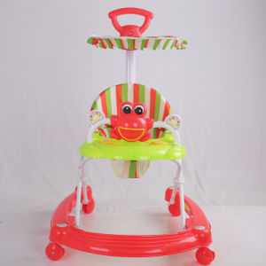Super Great New Model Baby Walker with Pushbar and Canopy pictures & photos