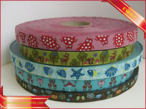 Gift Packing Tape Clothing Woven Jacquard Elastic Tape pictures & photos