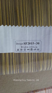 New Fashion Project Stripe Organza Sheer Curtain Fabric 201530 pictures & photos