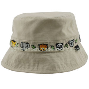 Washed Binding Embroidery Leisure Fishing Bucket Hat (TMBH8998) pictures & photos