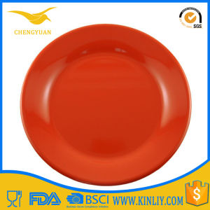Melamine Yellow Custom Tableware Plastic Dinner Plate Ware for Sublimation pictures & photos