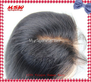 Straight Indian Virgin Human Hair Lace Closure pictures & photos