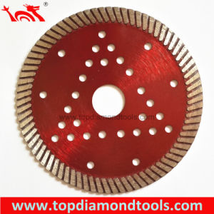 Hot Press Fine Turbo Diamond Saw Blade with Cooling Holes pictures & photos